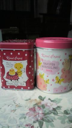 桜ダージリンとパンケーキティー♪