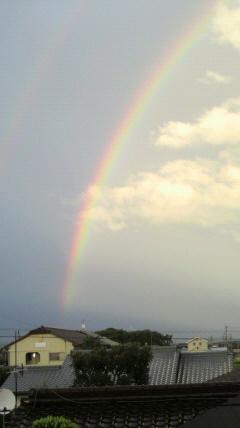 孫と一緒に見た虹…