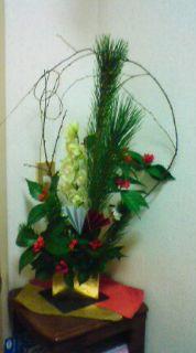 お正月花の生け花教室♪