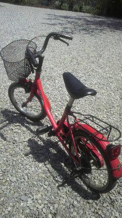 赤い自転車♪