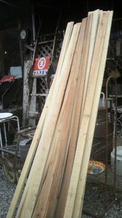 この杉板を使って…